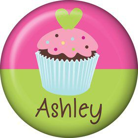 Cupcake Birthday Personalized Mini Button (Each)