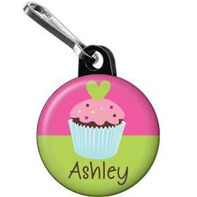Cupcake Birthday Personalized Mini Zipper Pull (each)