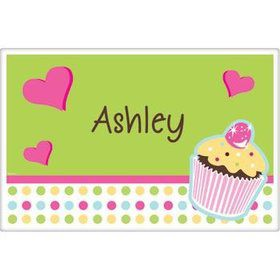 Cupcake Birthday Personalized Placemat (each)