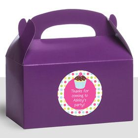 Cupcake Birthday Personalized Treat Favor Boxes (12 Count)