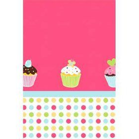 Cupcake Birthday Table Cover (each)