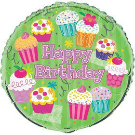 "Cupcake Party 18"" Foil Balloon (each)"