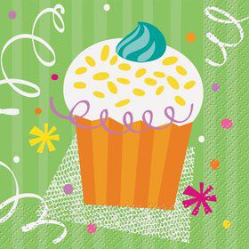 Cupcake Party Beverage Napkins (16-pack)