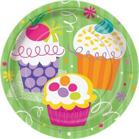 Cupcake Party Cake Plates (8-pack)