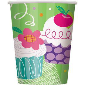 Cupcake Party Cups (8-pack)