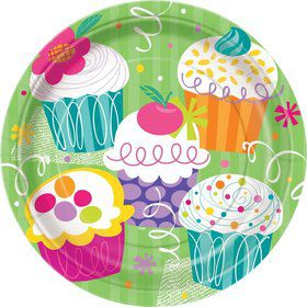 Cupcake Party Dinner Plates (8-pack)