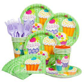 Cupcake Party Economy Kit Serves 8 Guests