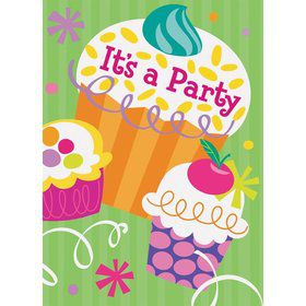 Cupcake Party Invitations (8-pack)
