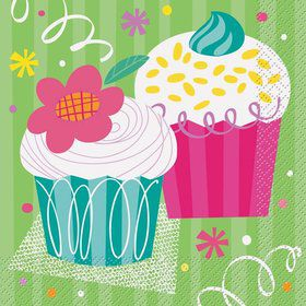 Cupcake Party Luncheon Napkins (16-pack)