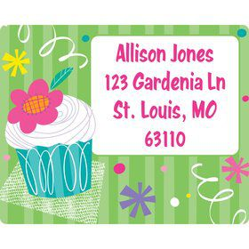 Cupcake Party Personalized Address Labels (Sheet of 15)