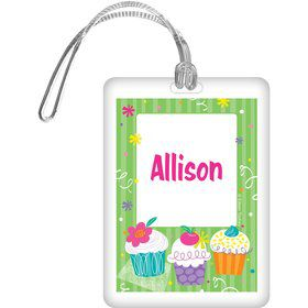 Cupcake Party Personalized Bag Tag (each)