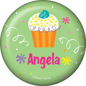 Cupcake Party Personalized Button (each)