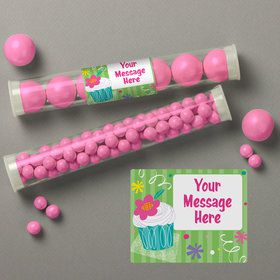 Cupcake Party Personalized Candy Tubes (12 Count)