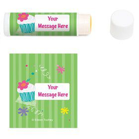 Cupcake Party Personalized Lip Balm (12 Pack)