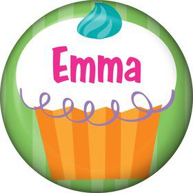 Cupcake Party Personalized Mini Button (each)