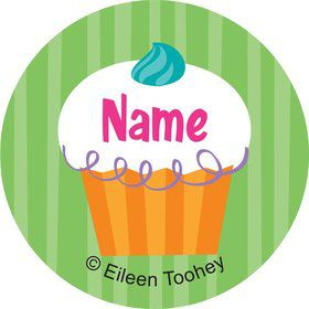 Cupcake Party Personalized Mini Stickers (Sheet of 20)