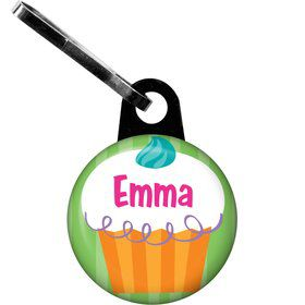 Cupcake Party Personalized Zipper Pull (each)