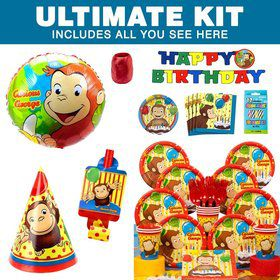 Curious George Birthday Party Ultimate Tableware Kit Serves 8