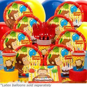 Curious George Deluxe Party Tableware Kit Serves 8