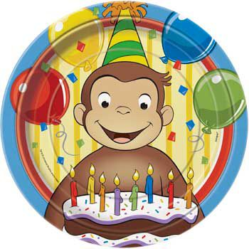 Curious George Dinner Plate 8ct Birthday Party Supplies Plates