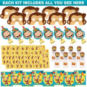 Curious George Favor Kit (For 8 Guests)