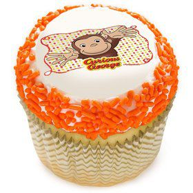"Curious George Let's Celebrate 2"" Edible Cupcake Topper (12 Images)"