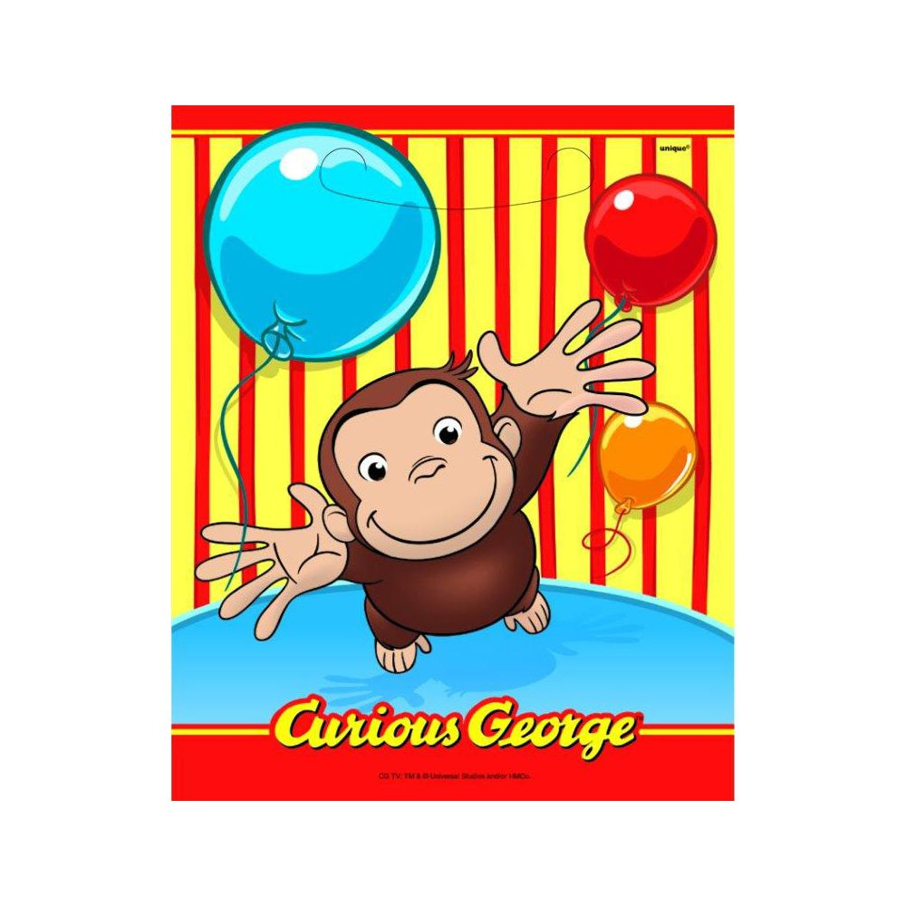 Curious George Loot Bags (8 Pack) - Party Supplies