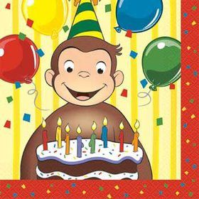 Curious George Napkins (16-pack)