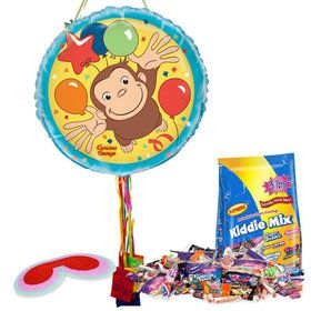 Curious George Pull String Economy Pinata Kit