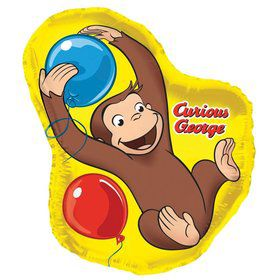 "Curious George Shaped 18"" Foil Balloon (Each)"