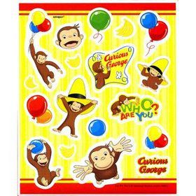 Curious George Stickers (4-pack)