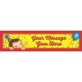 Curious Monkey Personalized Banner (Each)