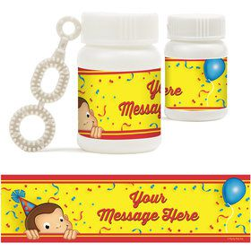 Curious Monkey Personalized Bubbles (18 Pack)