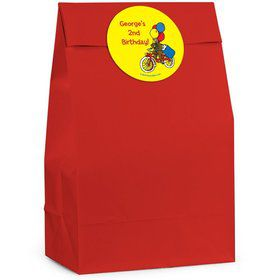 Curious Monkey Personalized Favor Bags (Pack of 12)