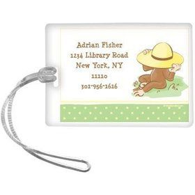 Curious Monkey Personalized Luggage Tag (each)