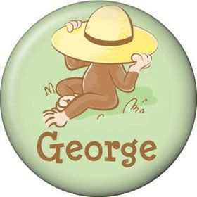 Curious Monkey Personalized Mini Button (each)