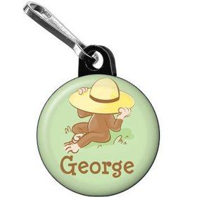Curious Monkey Personalized Mini Zipper Pull (each)