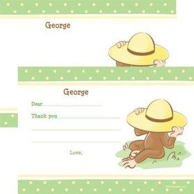 Curious Monkey Personalized Thank You Note (each)