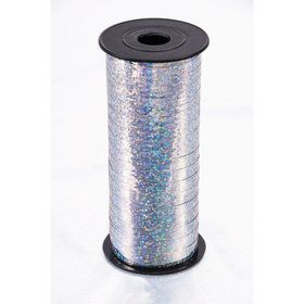 Curling Ribbon 100 Yard - Holographic Silver