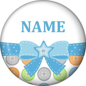 Cute as a Button Boy Personalized Mini Magnet (Each)
