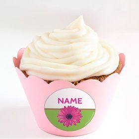 Daisy Power Personalized Cupcake Wrappers (Set of 24)