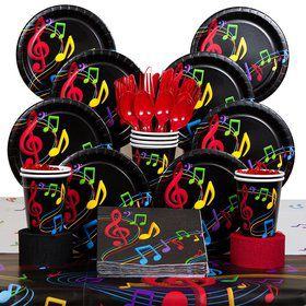 Dancing Music Birthday Party Deluxe Tableware Kit Serves 8