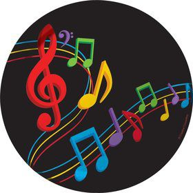 "Dancing Music Notes 7"" Lunch Plates (8 Pack)"