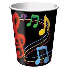 Dancing Music Notes Cups, Hot/Cold 9 Oz (8 Pack)