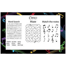 Dancing Music Personalized Activity Mat (8 Pack)