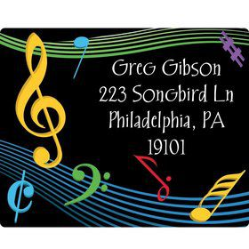 Dancing Music Personalized Address Labels (Sheet of 15)