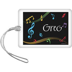 Dancing Music Personalized Bag Tag (Each)