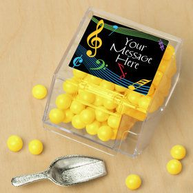 Dancing Music Personalized Candy Bin with Candy Scoop (10 Count)