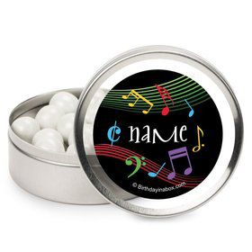 Dancing Music Personalized Candy Tins (12 Pack)