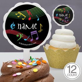 Dancing Music Personalized Cupcake Picks (12 Count)